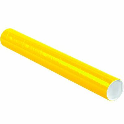 $75.83 • Buy Partners Brand PP3024Y Mailing Tubes With Caps 3  X 24  Yellow Pack Of 24