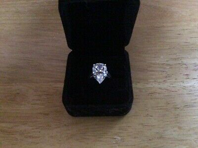 $ CDN164.46 • Buy Diamonique QVC Rings X 6 Never Worn 4 Solitaire 2 Eternity Sizes K And L