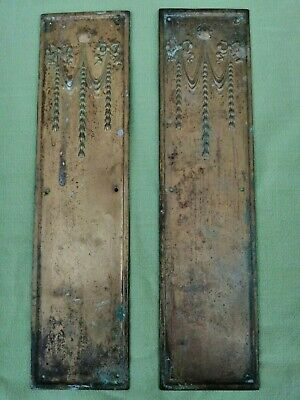 £40 • Buy Pair Of Victorian Brass Finger Plates Unpolished