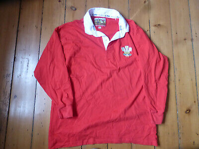 £2 • Buy VINTAGE WALES RUGBY JERSEY, Cotton Traders XL.