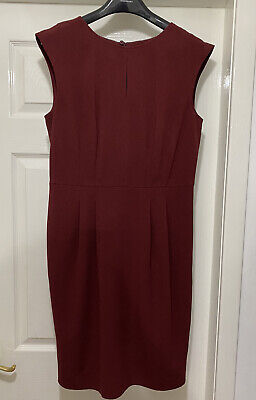 £7.99 • Buy M&S Collection Ladies Dress UK 12 Claret Work Office Casual Lightweight