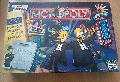 £14.99 • Buy The Simpsons Monopoly Board Game Parker 100% Complete Working Electronic Banking