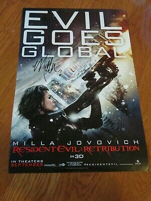 $24.99 • Buy Milla Jovovich  Autographed 11x17 Resident Evil Poster Hand Signed