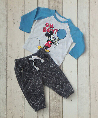 £0.99 • Buy ** Cute Baby Boy Mickey Mouse Top & Trousers - F&F & Primark (6 - 9 Months) **