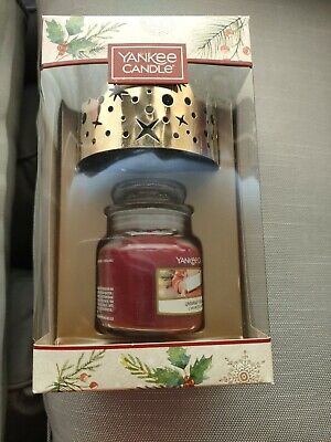 £12 • Buy Yankee Candle Small  Unwrap The Magic Jar And Gold Shade Gift Set