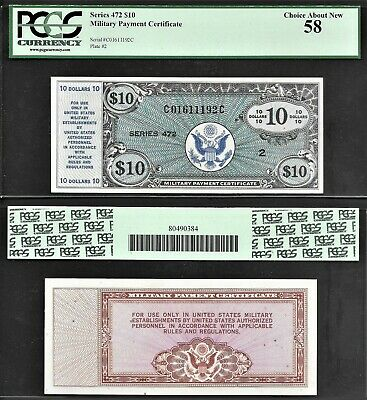 $149.99 • Buy *scarce*  $10 Series 472 Military Payment Certificate Pcgs Choice Au-58