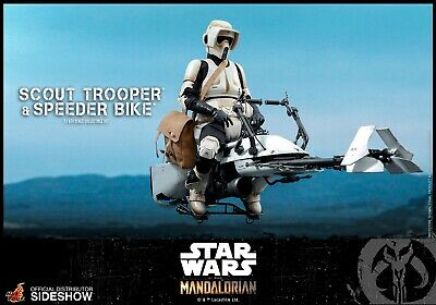 $ CDN130.29 • Buy Scout Trooper And Speeder Bike Sixth Scale Figure SetbyHot Toys