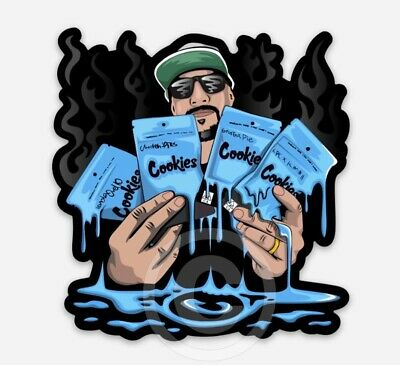 £5.79 • Buy Breal X Cookies STICKER + FRIDGE MAGNET (2 PACK) • Cypress Hill Greenthumb Weed*