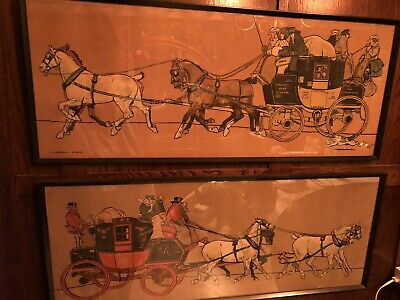 £195 • Buy Two Cecil Aldin One Signed Antique Prints Liverpool Coach & Another Coach