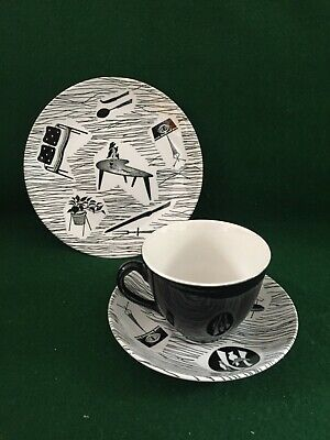 £19.95 • Buy Vintage Retro Ridgway Homemaker Trio ~ Cup & Saucer And Side Plate
