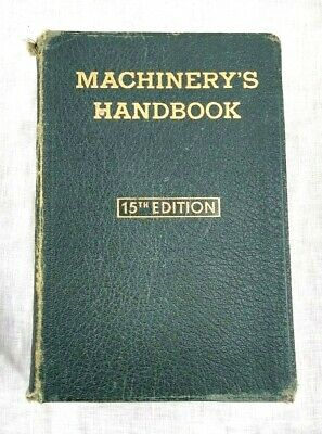 $14.99 • Buy Machinery's Handbook 15th Edition The Industrial Press Leather Bound 1954