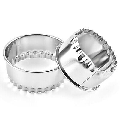 £0.01 • Buy 3*Dumpling Wrapper Cutter  Stainless Steel Crinkled Scone Pastry  Quiche Cutters