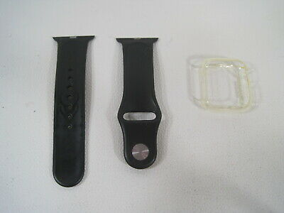 $ CDN8.81 • Buy Apple Watch Silicone Band Strap Series 1/2/3/4/5/6/SE Sports 38 Mm W/ Clear Case