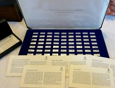 £283.32 • Buy Franklin Mint Miniature Classic Car Ingots, Sterling Silver Set Of 63 + Cards