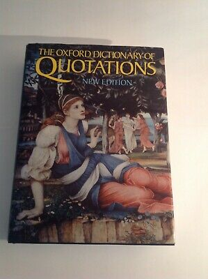 £6 • Buy The Oxford Dictionary Of QUOTATIONS New Edition 4th 1992 Hardback Book - NEW VGC