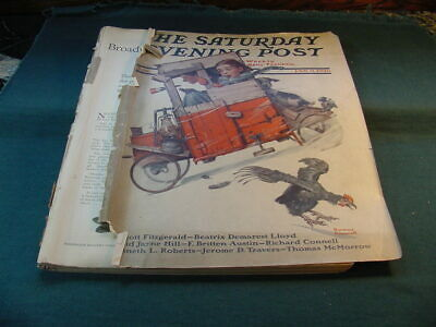 $ CDN23.33 • Buy Jan 9 1926 The Saturday Evening Post Magazine Norman Rockwell Cover Lots Car Ads