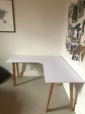 AU70 • Buy IKEA Corner Desk - White And Timber Good Condition