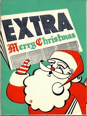 $ CDN5.04 • Buy Extra Santa Claus Newspaper Paper Delivery Message VTG Christmas Greeting Card