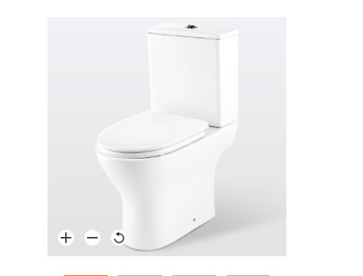 £75 • Buy B&Q GoodHome Valois Compact Close-coupled Toilet Set With Soft Close Seat / New