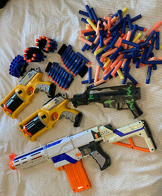AU27 • Buy Kids Assorted Nerf Guns And Toy Gun, Bullets And Bullet Wrist Bands