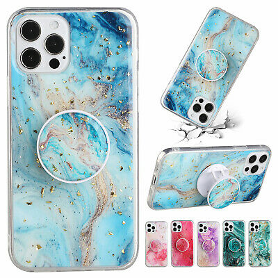 AU7.79 • Buy For IPhone 11 12 Pro Max XR XS 8 7 SE2 Shockproof Marble Rubber Stand Case Cover