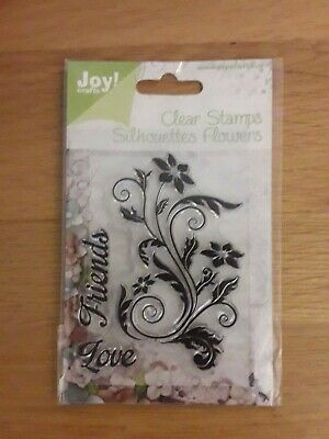 £2.50 • Buy Joy Clear Stamps - Silhouettes Flowers - NEW