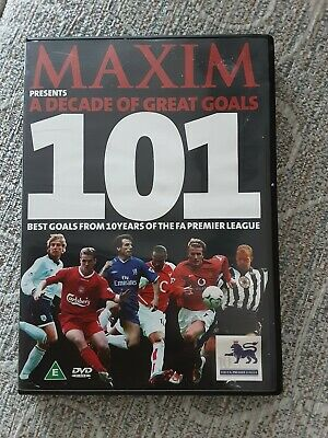 £1.99 • Buy DVD Film MAXIM **A DECADE OF GREAT GOALS 101 IN FOOTBALL**good CONDITION