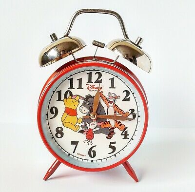 £9.99 • Buy Vintage Disney Winnie The Pooh Alarm Clock Double Bell Twin Bell Collectable