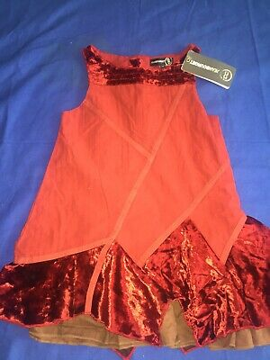£7.99 • Buy Jean Bourget Girls Red Special Occasion Designer Dress Age 4 Years