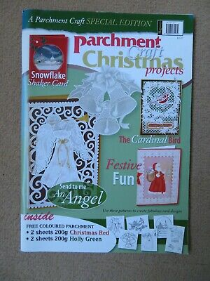 £3 • Buy Parchment Craft - Christmas Projects + 4 Parchment Sheets