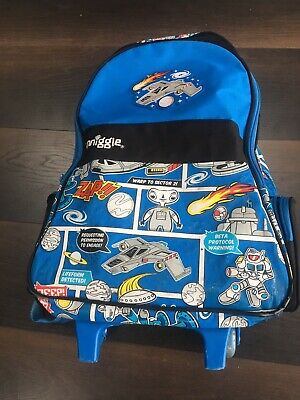 £4.99 • Buy Smiggle Alien/Space Backpack & Rucksack With Wheels And A Handle