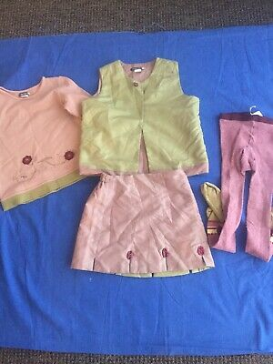 £9.99 • Buy Jean Bourget Girls Designer 4 Piece Outfit Age 5-6 Years