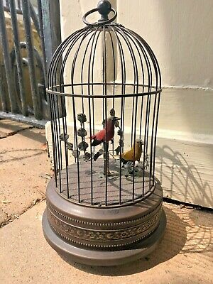 £389 • Buy Vintage Singing Bird Cage Automaton With Two Birds