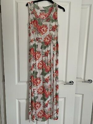 £1 • Buy Dorothy Perkins Maxi Dress Size 10 White Floral Print