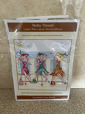 """£10 • Buy Bothy Thread """"Ladies Who Lunch"""" Cross Stitch Kit"""