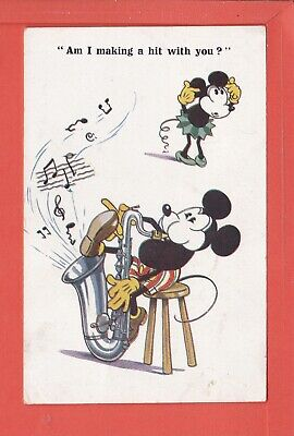 £8 • Buy MICKEY MOUSE Am I Making A Hit With You Says Minnie P/u 1933 Pub Inter-Art 7092