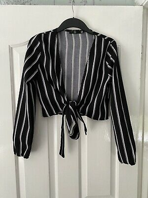 £0.99 • Buy Missguided Blazer Black And White Tie Up Size 10