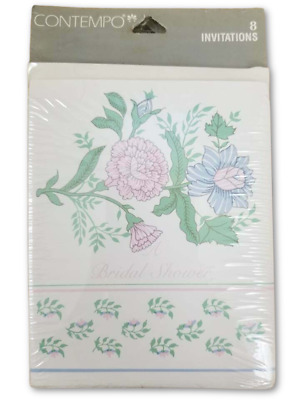 £3.50 • Buy Bridal Shower Card Invitations RSVP Cards Pink Floral Contempo Beach 32 Pack
