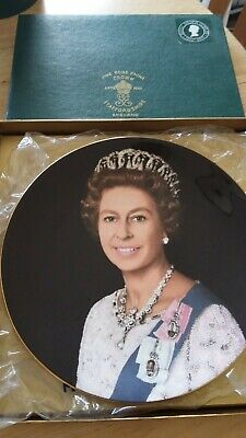 £0.99 • Buy Royal Silver Jubilee Crown Fine Bone China Plate The Queen Boxed