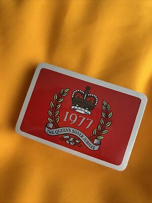£6 • Buy The Queens Silver Jubilee 1977 Playing Cards (Red Sealed)