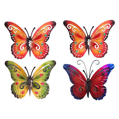 £17.80 • Buy 2Pcs Colorful Butterfly Wall Decor Living Room Garden Yard Fence Decor