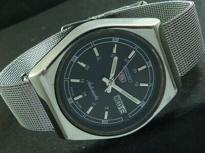 $ CDN1.71 • Buy OLD VINTAGE SEIKO 5 AUTOMATIC JAPAN MENS DAY/DATE WATCH 446e-a224753-2