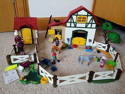 £19 • Buy Playmobil Horse Pony Farm 6927 & Stable With Araber 6934 Sets & Figures Bundle