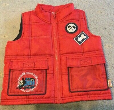 £1.95 • Buy Children's Gilet Vest Jacket Thomas The Tank Red 9 - 12 Months