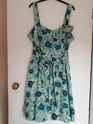 £8 • Buy John Rocha Green Fit And Flare Dress Size 20 Excellent Condition