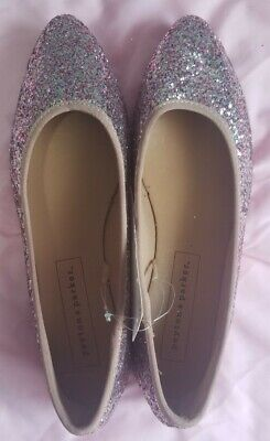 $4 • Buy Peyton And Parker Women Pink Sequins Flat Shoes (size 9 US)