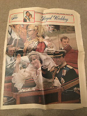 £0.99 • Buy Charles And Diana Wedding Celebration Coventry Evening Telegraph 1981