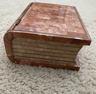 $225 • Buy Maitland Smith Tessellated Stone And  Book Shaped Box