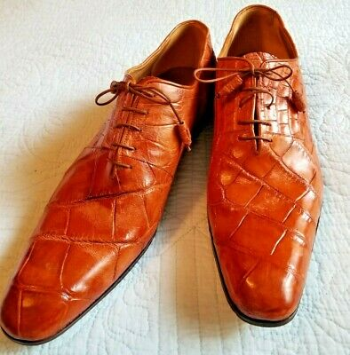 $157.50 • Buy Men's Lt. Brown MAURI Dress Shoes Size 12 M Genuine Alligator Italy Hand Painted