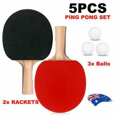AU12.99 • Buy 2 Players Table Tennis Ping Pong Set Includes 2 Rackets And 3 Balls AU Stock NEW